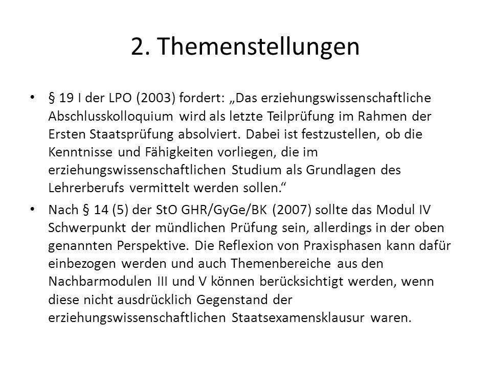 2. Themenstellungen