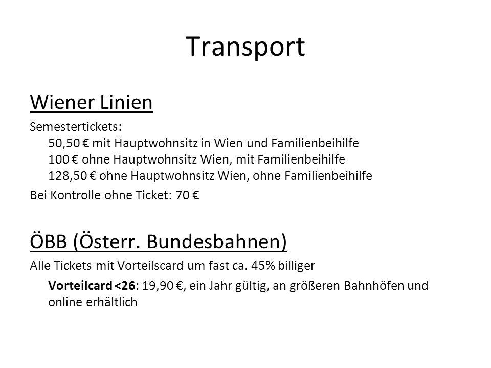 Transport Wiener Linien ÖBB (Österr. Bundesbahnen)