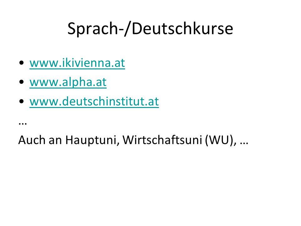 Sprach-/Deutschkurse
