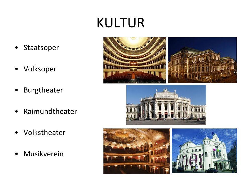 KULTUR Staatsoper Volksoper Burgtheater Raimundtheater Volkstheater