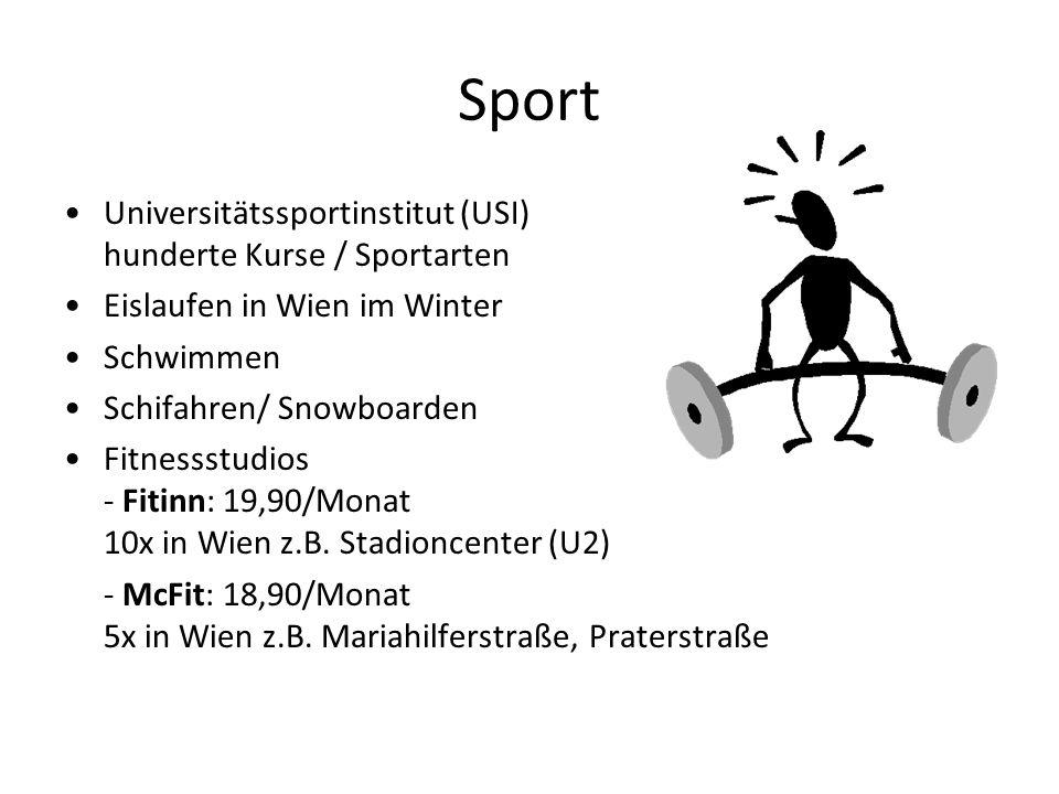 Sport Universitätssportinstitut (USI) hunderte Kurse / Sportarten