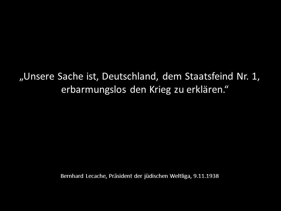Bernhard Lecache, Präsident der jüdischen Weltliga, 9.11.1938