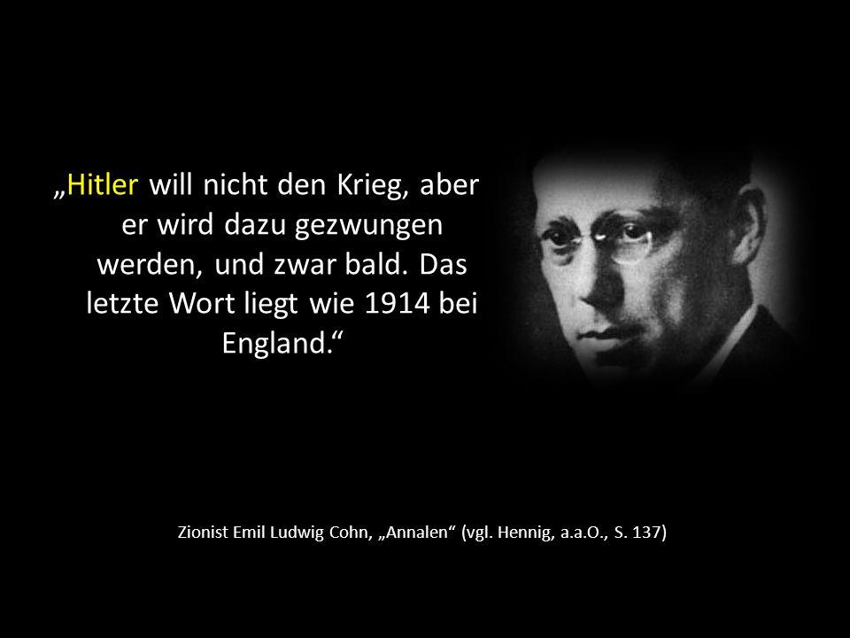 """Zionist Emil Ludwig Cohn, """"Annalen (vgl. Hennig, a.a.O., S. 137)"""