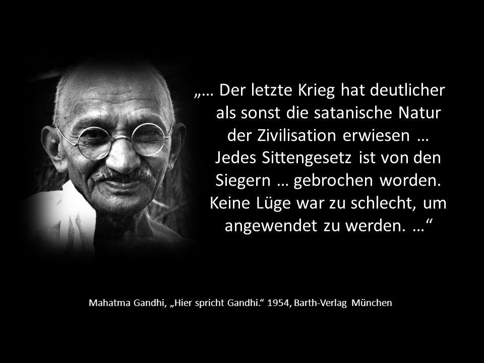 """Mahatma Gandhi, """"Hier spricht Gandhi. 1954, Barth-Verlag München"""