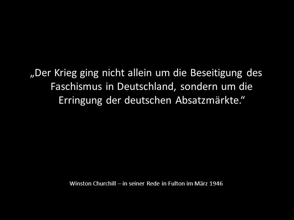 Winston Churchill – in seiner Rede in Fulton im März 1946
