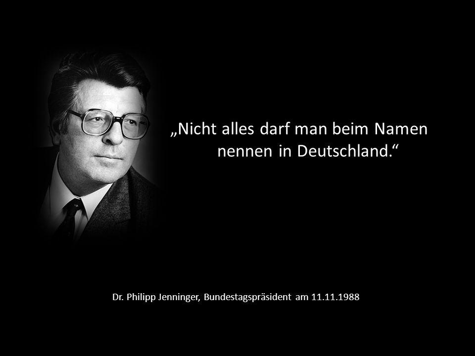Dr. Philipp Jenninger, Bundestagspräsident am 11.11.1988