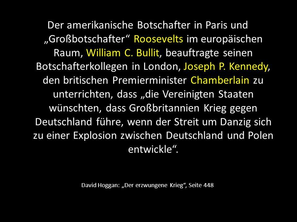 """David Hoggan: """"Der erzwungene Krieg , Seite 448"""