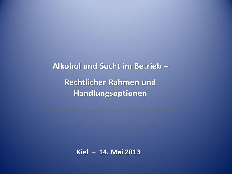 Alkohol und Sucht im Betrieb –