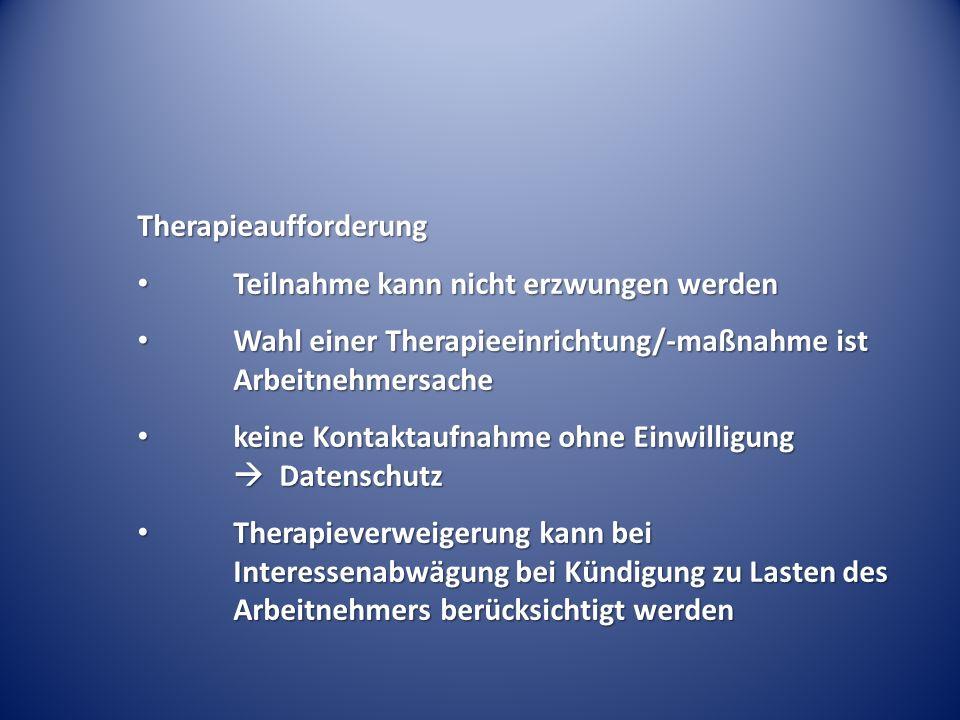 Therapieaufforderung
