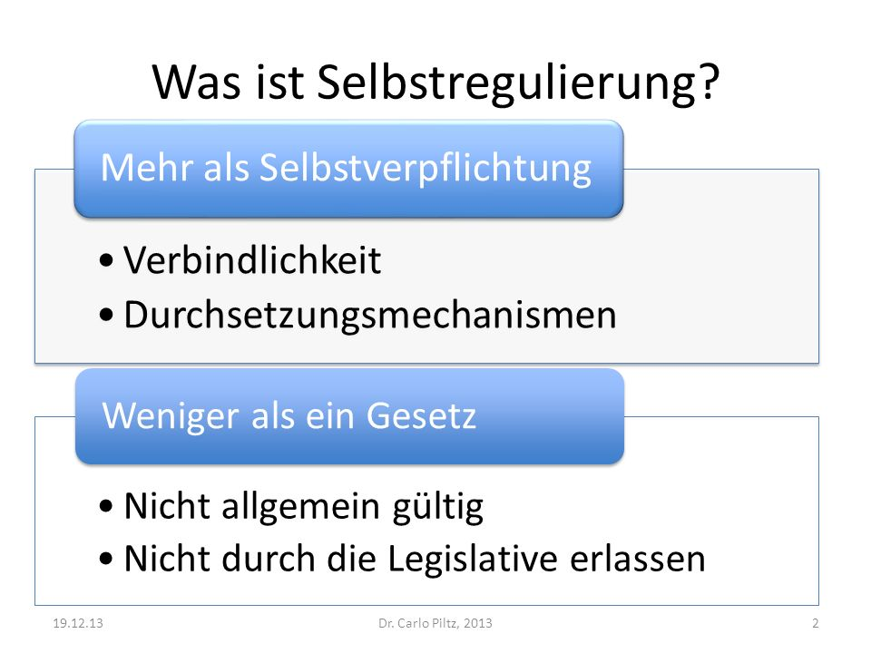 Was ist Selbstregulierung
