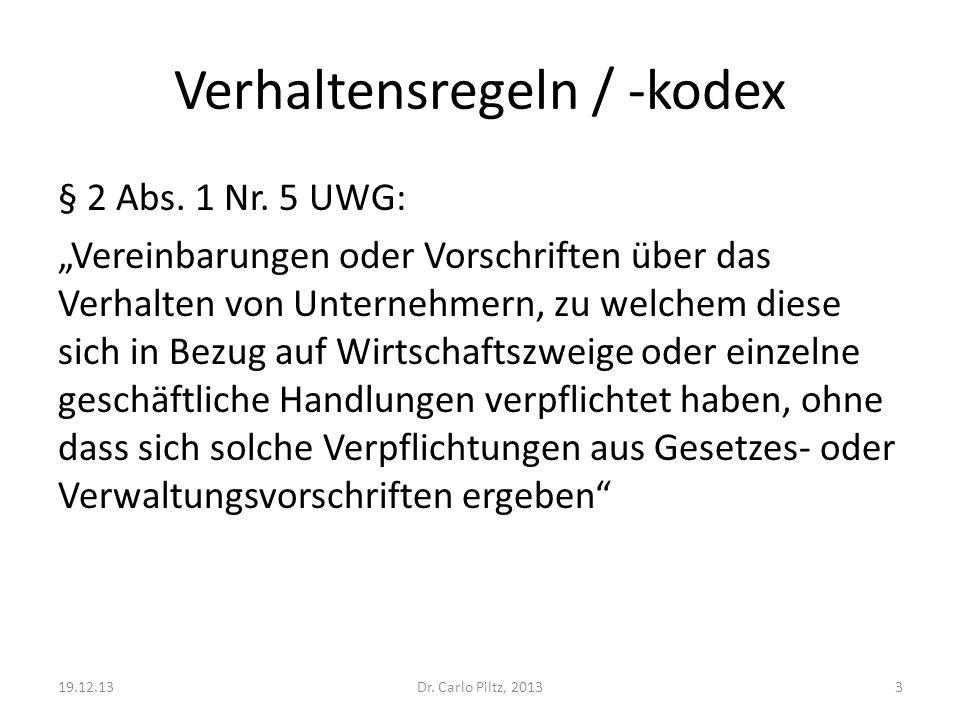 Verhaltensregeln / -kodex