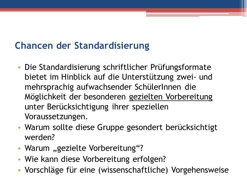 Chancen der Standardisierung