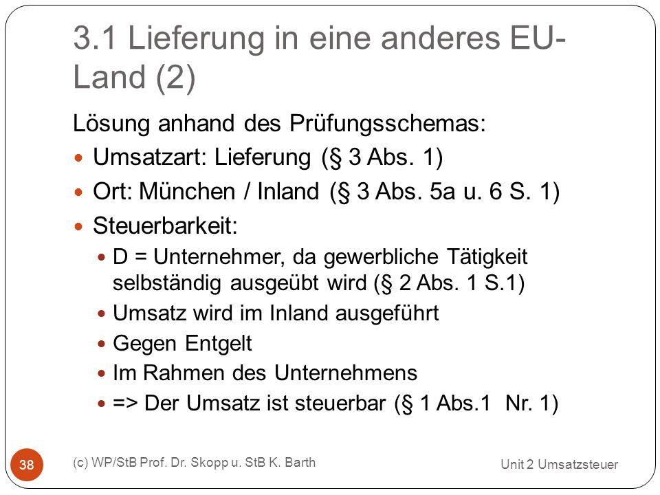 3.1 Lieferung in eine anderes EU-Land (2)