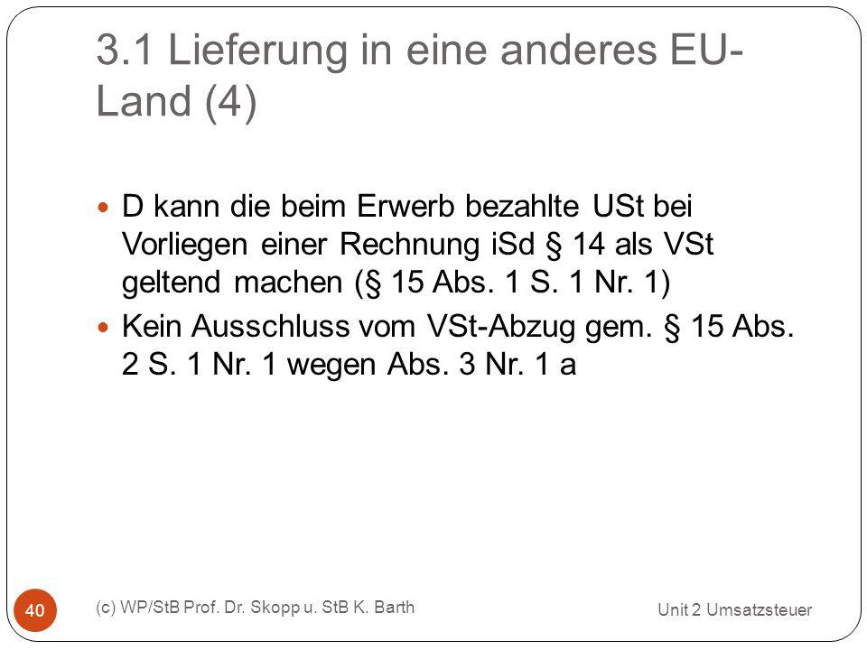 3.1 Lieferung in eine anderes EU-Land (4)