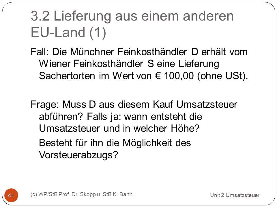 3.2 Lieferung aus einem anderen EU-Land (1)