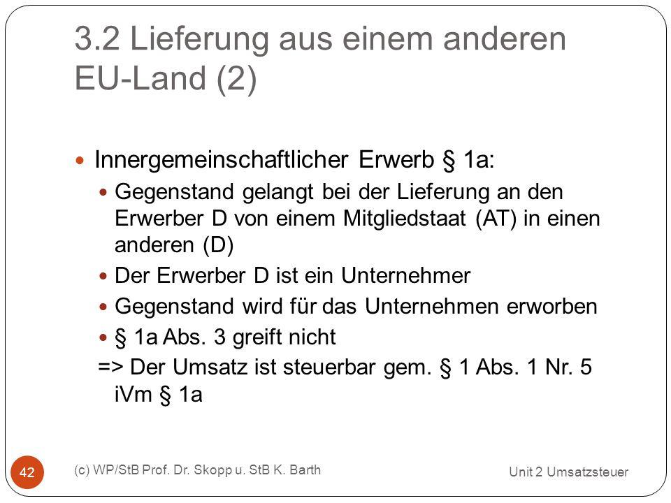 3.2 Lieferung aus einem anderen EU-Land (2)