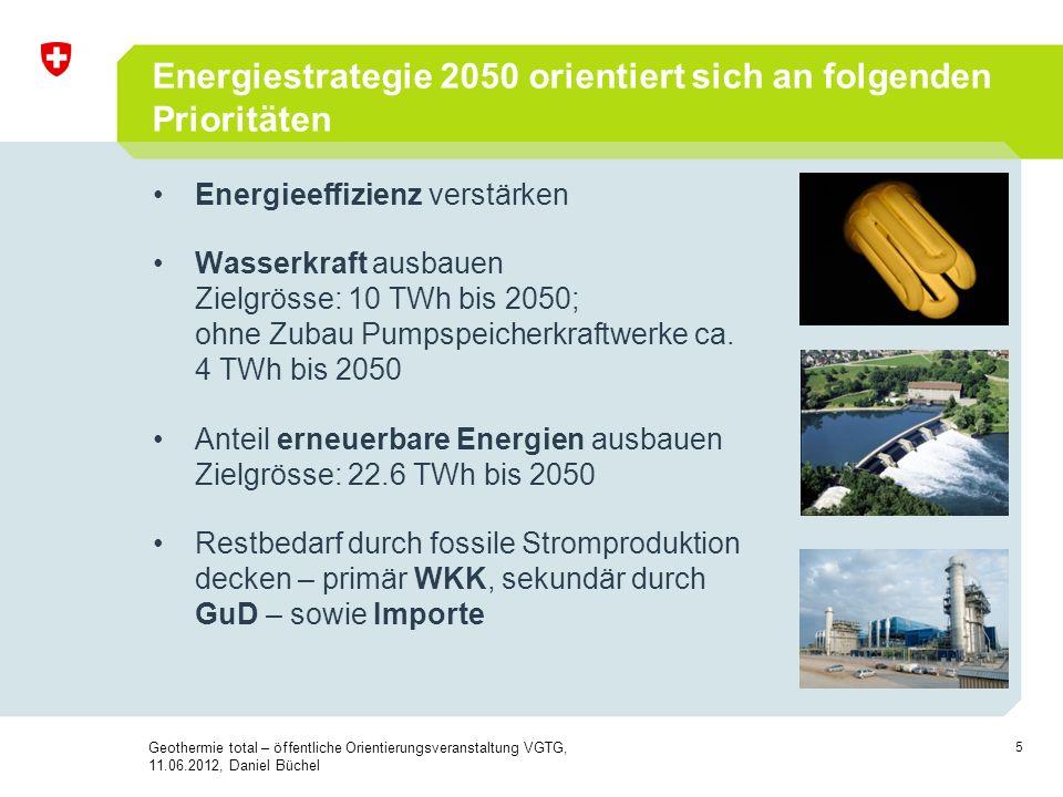 Energiestrategie 2050 orientiert sich an folgenden Prioritäten