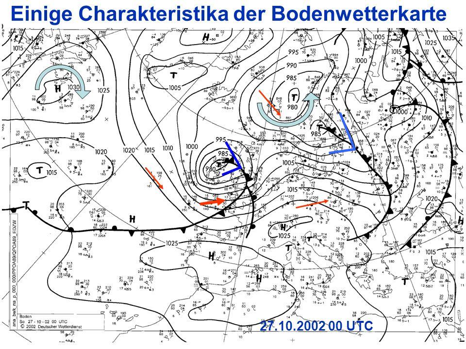 Einige Charakteristika der Bodenwetterkarte