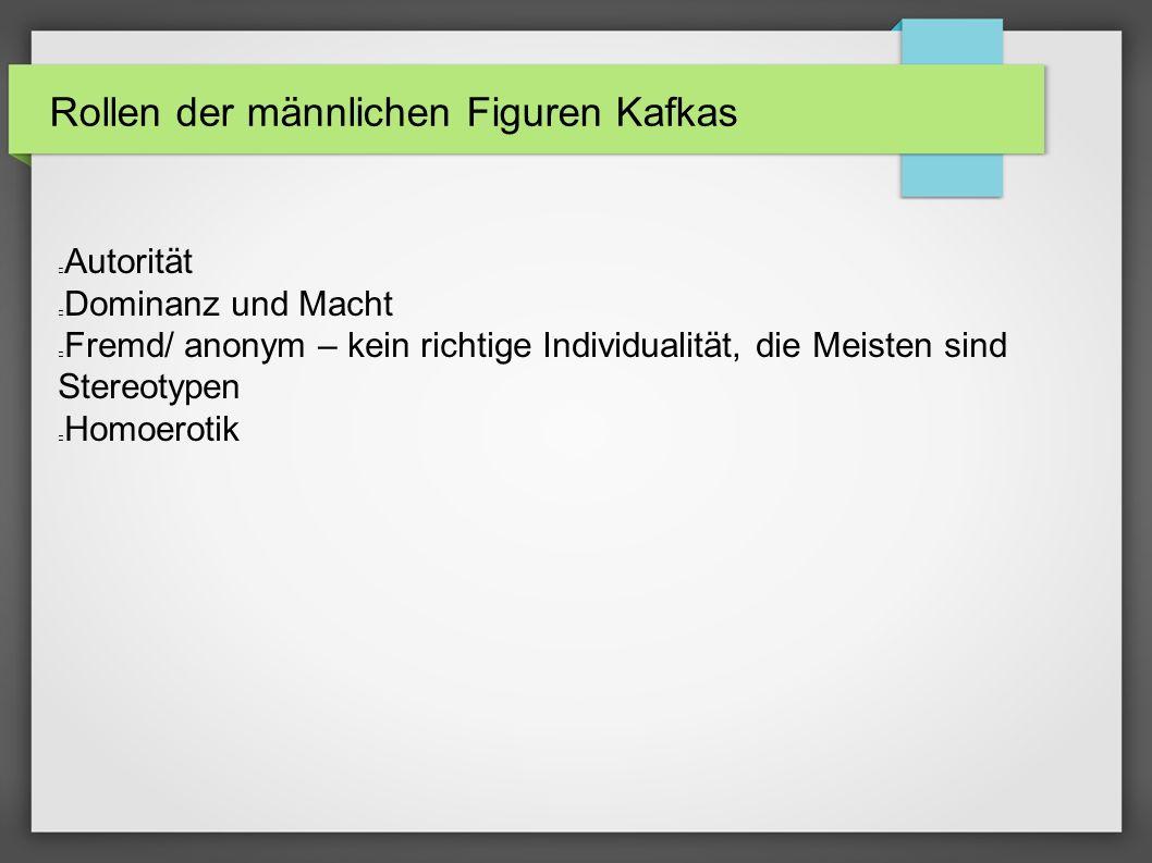 Rollen der männlichen Figuren Kafkas