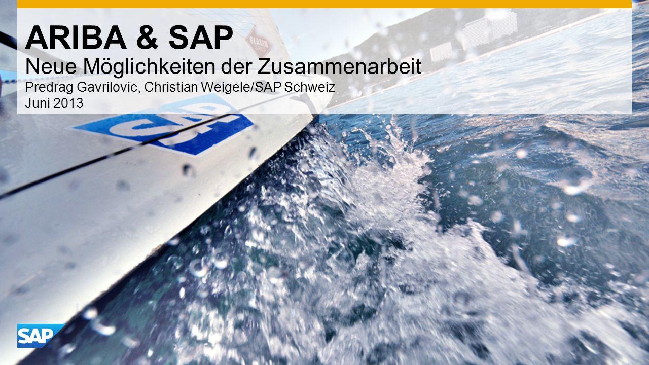 ARIBA & SAP Neue Möglichkeiten der Zusammenarbeit