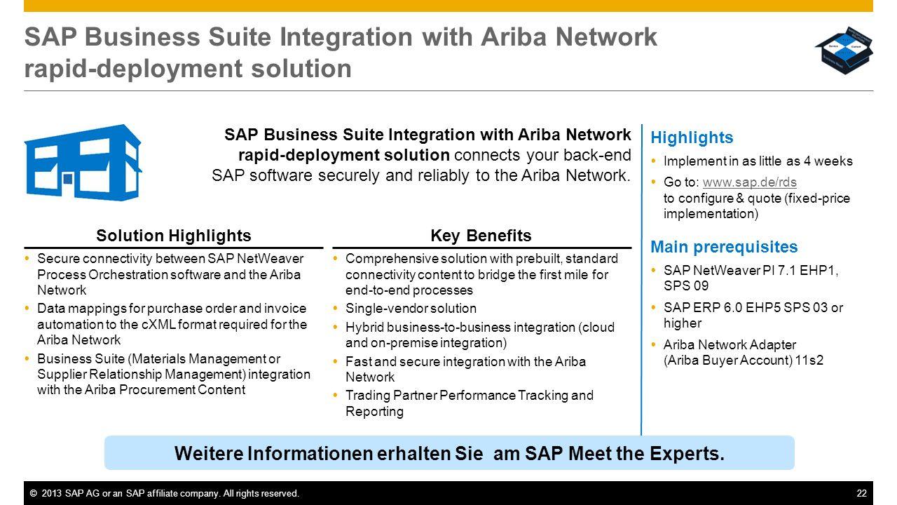Weitere Informationen erhalten Sie am SAP Meet the Experts.