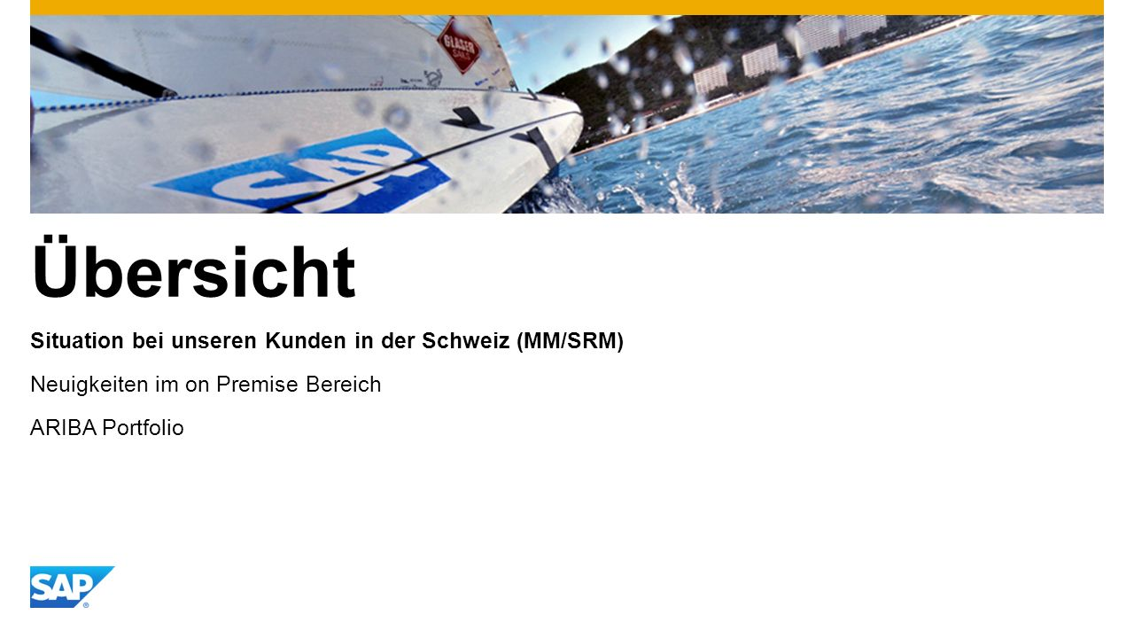 Übersicht Situation bei unseren Kunden in der Schweiz (MM/SRM)