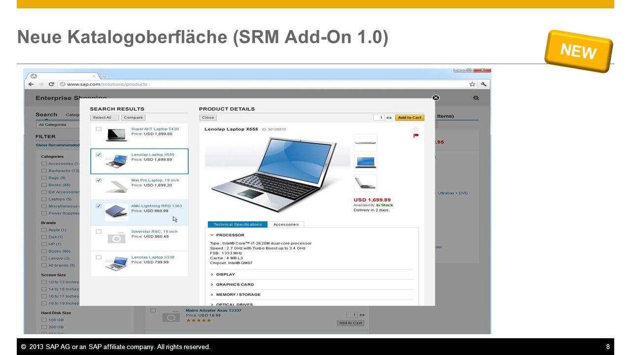 Neue Katalogoberfläche (SRM Add-On 1.0)
