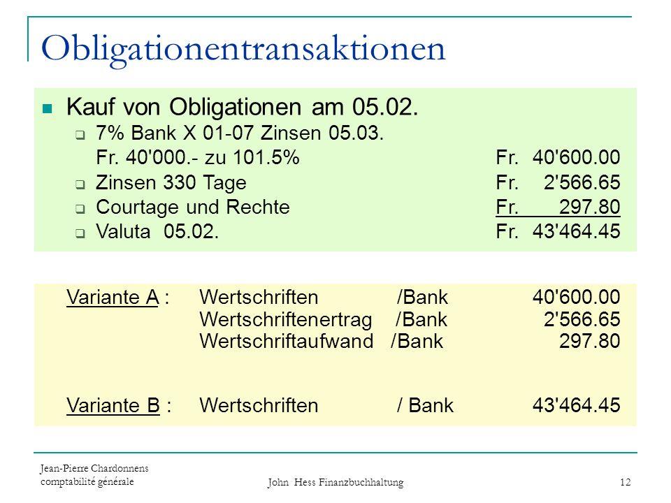 Obligationentransaktionen