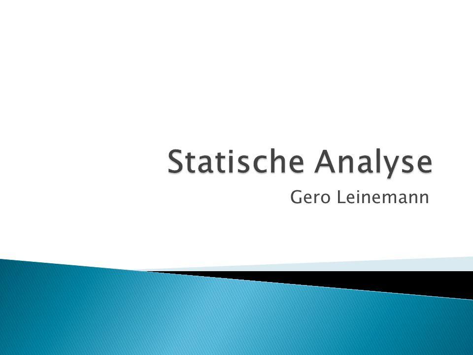 Statische Analyse Gero Leinemann