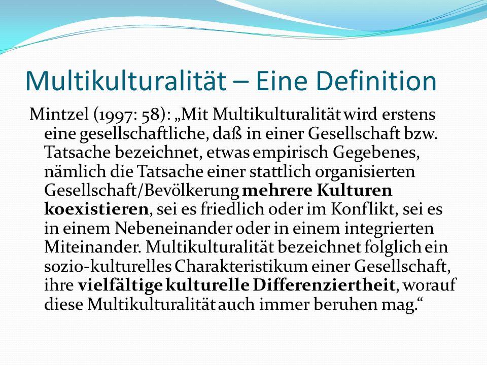 Multikulturalität – Eine Definition