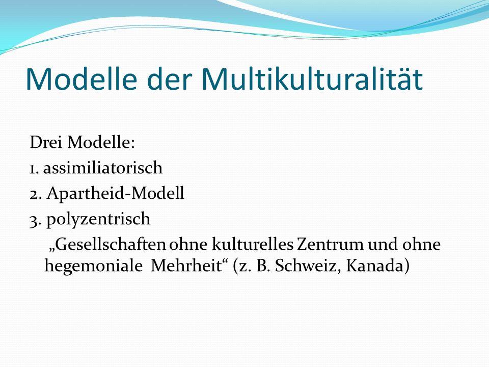 Modelle der Multikulturalität