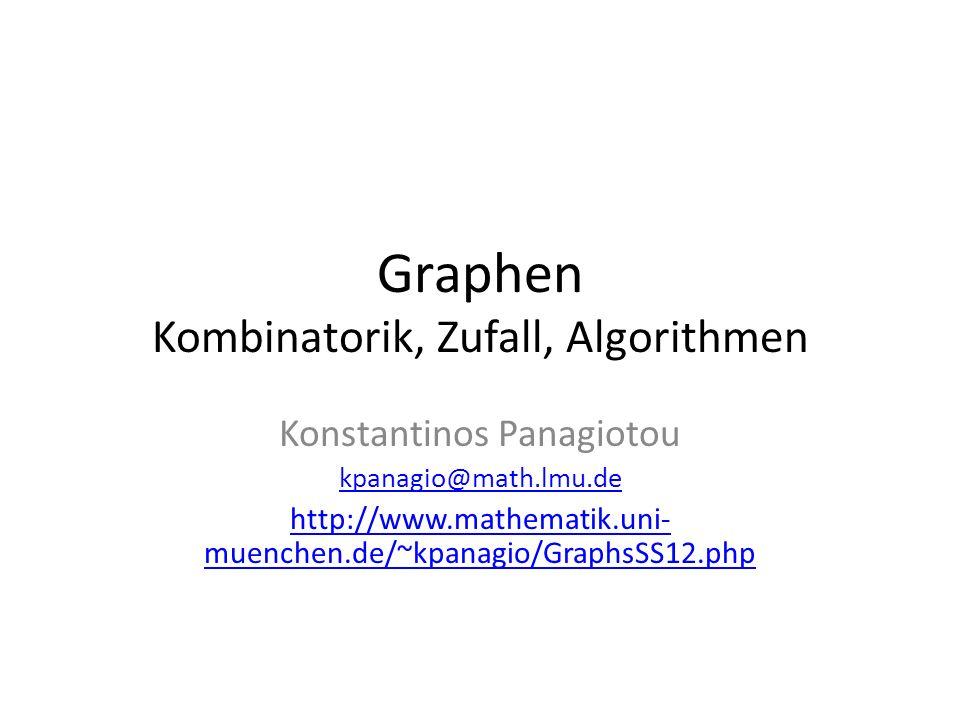 Graphen Kombinatorik, Zufall, Algorithmen
