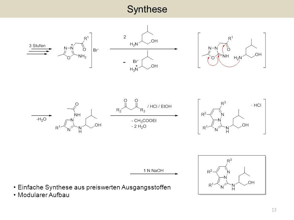 Synthese Einfache Synthese aus preiswerten Ausgangsstoffen