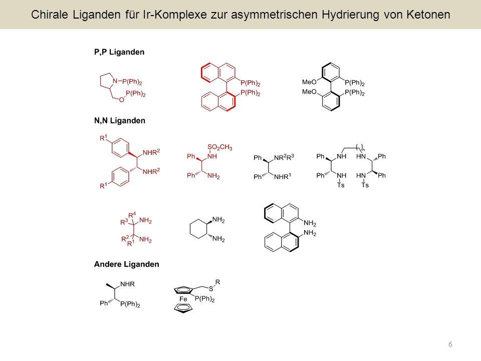 Chirale Liganden für Ir-Komplexe zur asymmetrischen Hydrierung von Ketonen