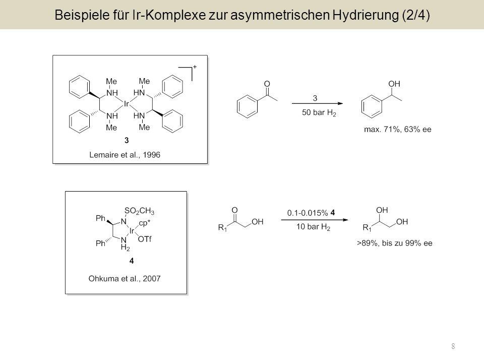 Beispiele für Ir-Komplexe zur asymmetrischen Hydrierung (2/4)