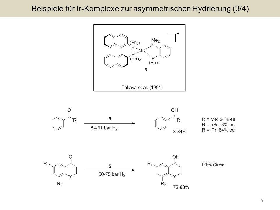 Beispiele für Ir-Komplexe zur asymmetrischen Hydrierung (3/4)