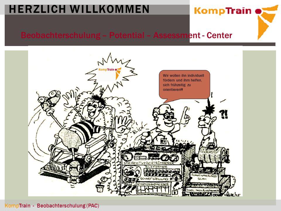 HERZLICH WILLKOMMEN Beobachterschulung – Potential – Assessment - Center.
