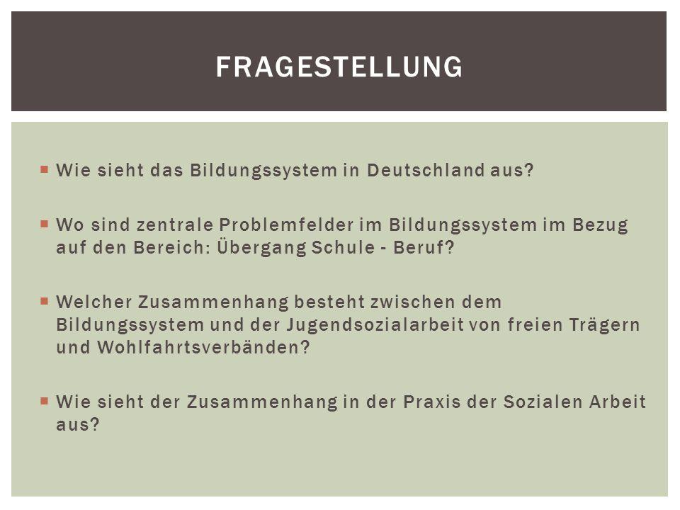Fragestellung Wie sieht das Bildungssystem in Deutschland aus