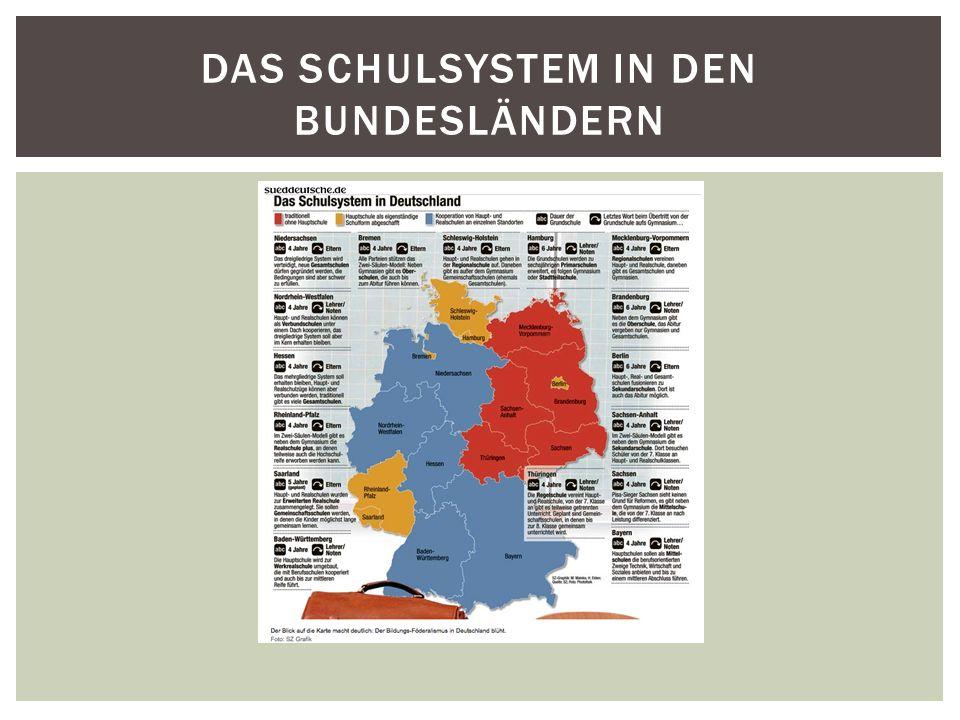 Das Schulsystem in den Bundesländern