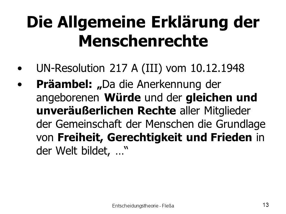 Die Allgemeine Erklärung der Menschenrechte