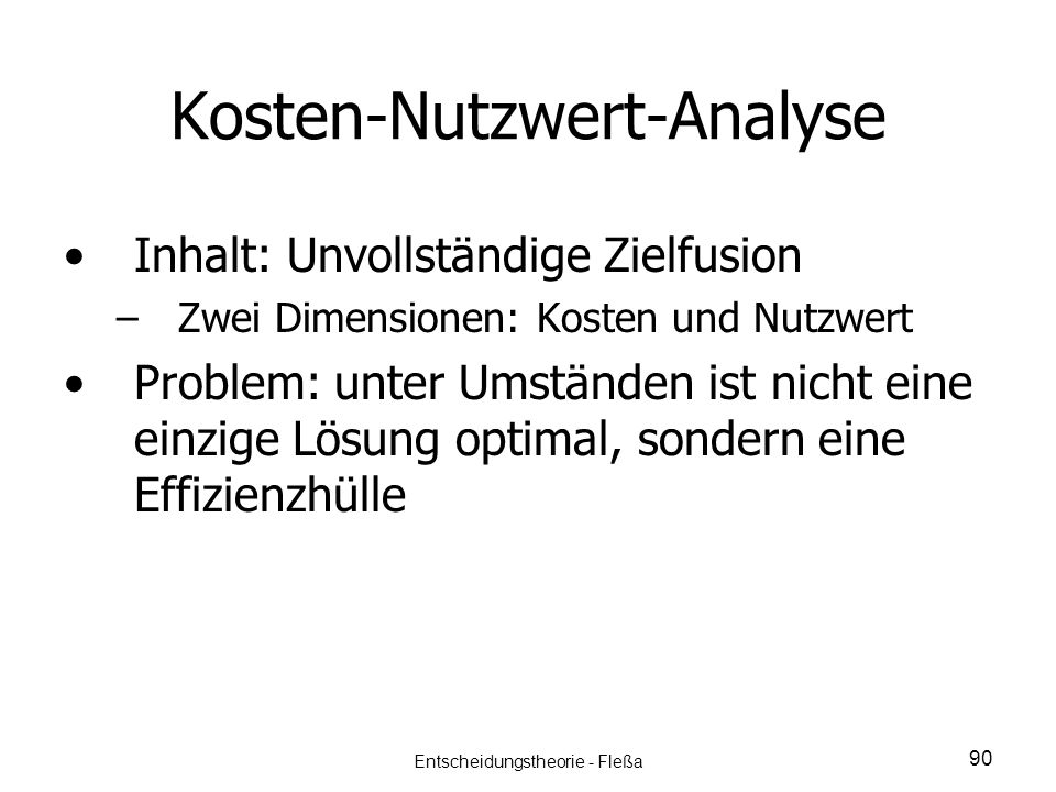 Kosten-Nutzwert-Analyse