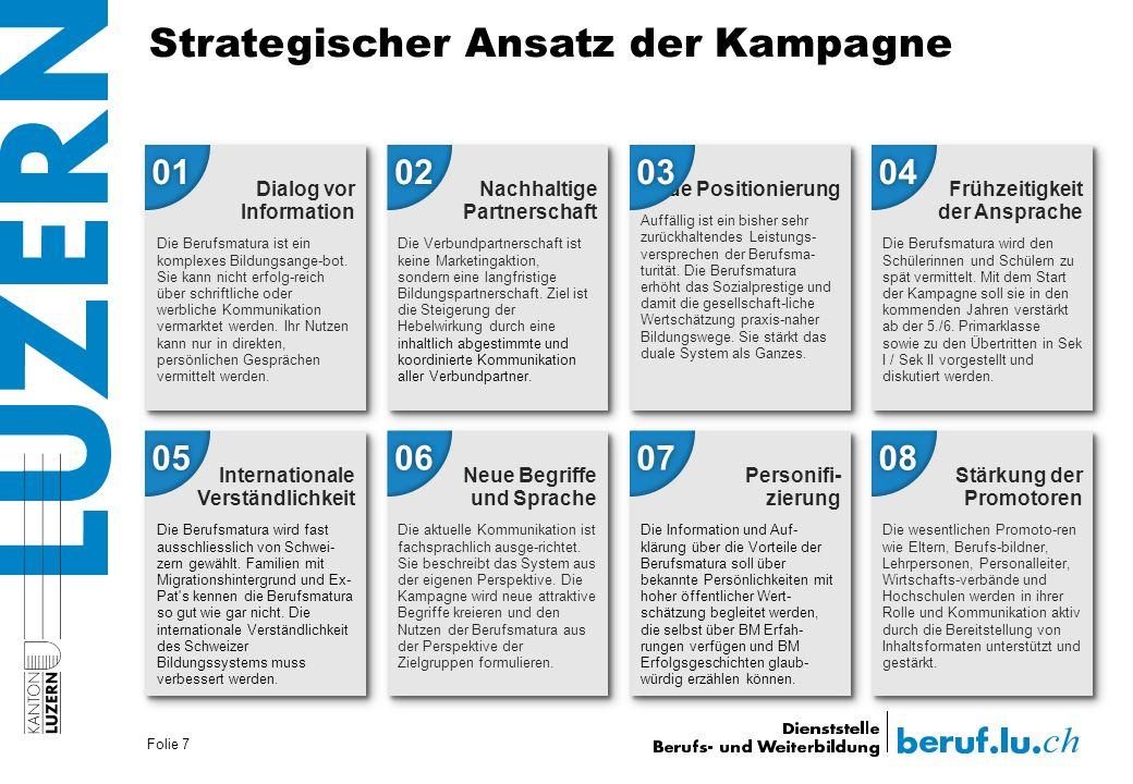 Strategischer Ansatz der Kampagne