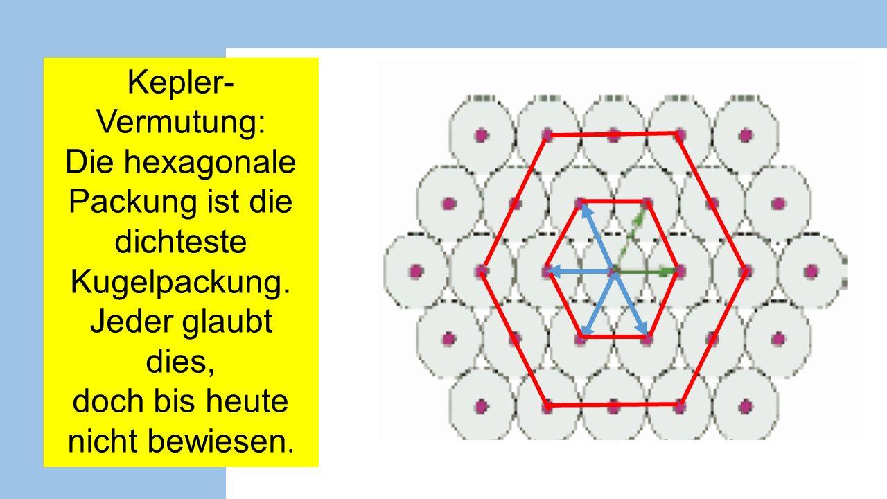Die hexagonale Packung ist die dichteste Kugelpackung.