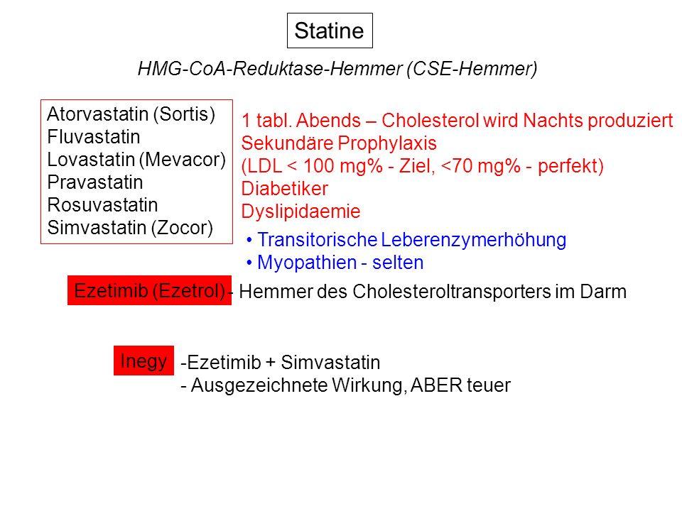 Statine HMG-CoA-Reduktase-Hemmer (CSE-Hemmer) Atorvastatin (Sortis)