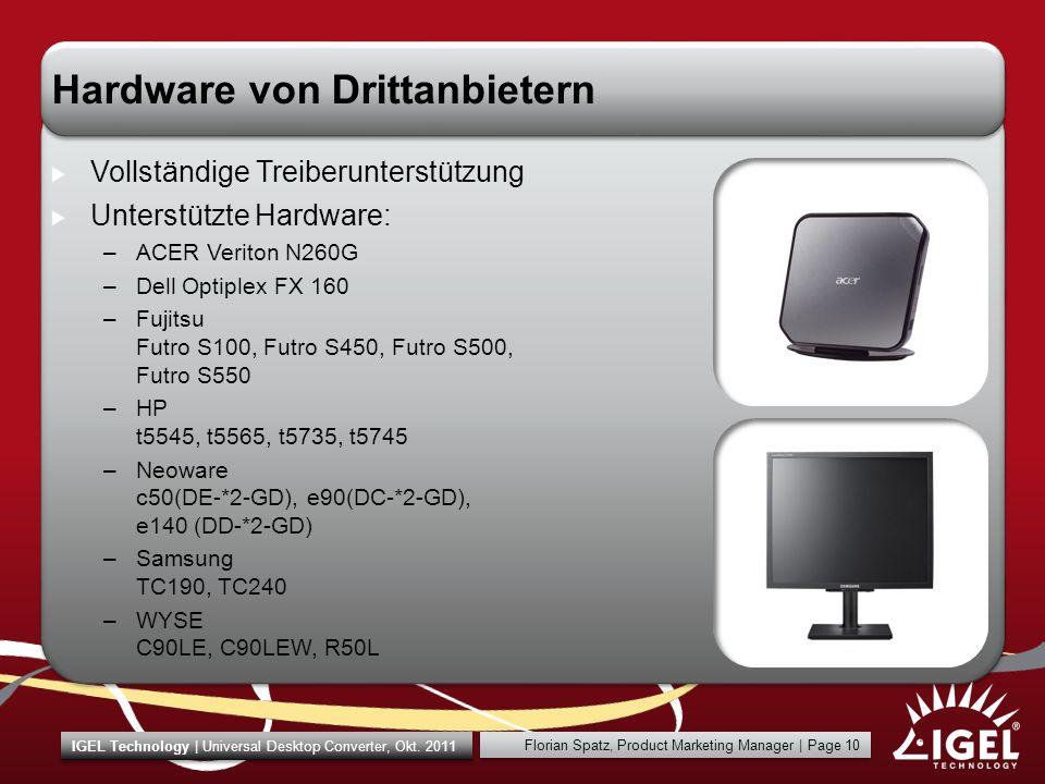 Hardware von Drittanbietern