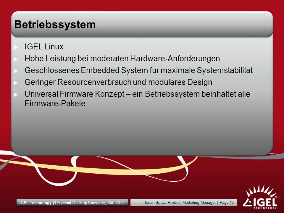 Betriebssystem IGEL Linux