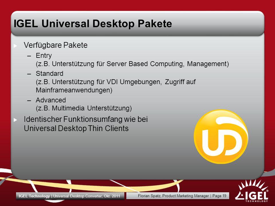 IGEL Universal Desktop Pakete