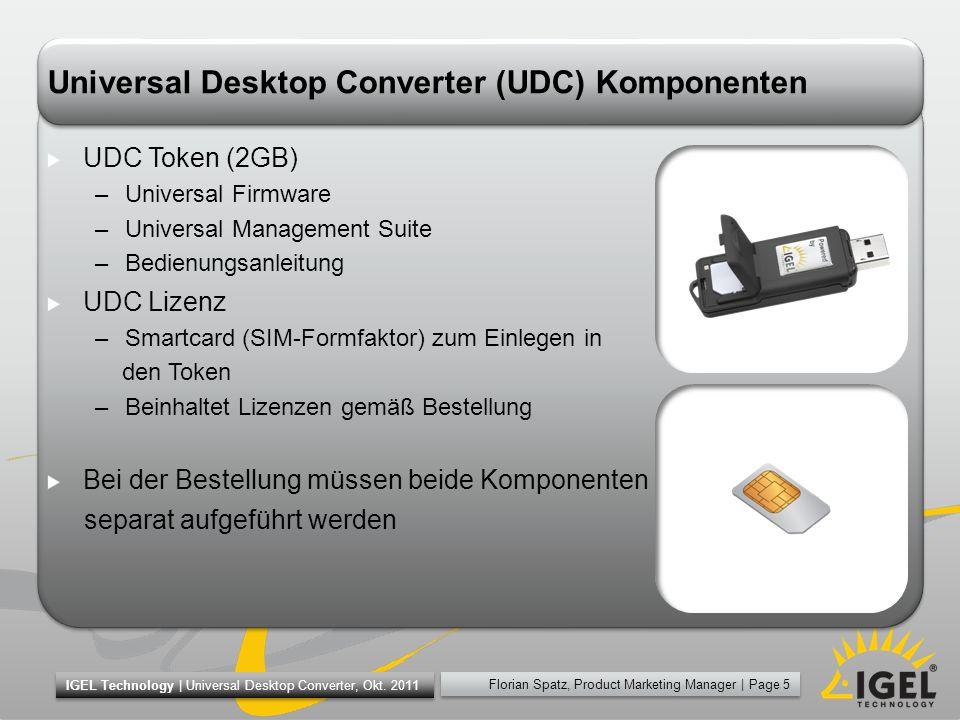 Universal Desktop Converter (UDC) Komponenten