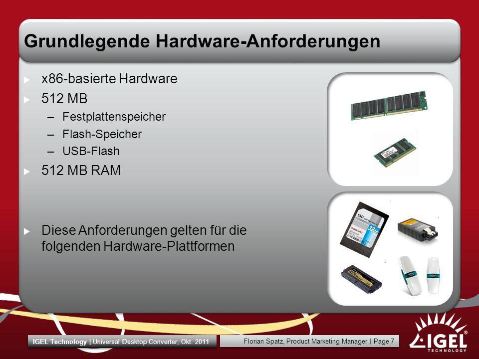 Grundlegende Hardware-Anforderungen
