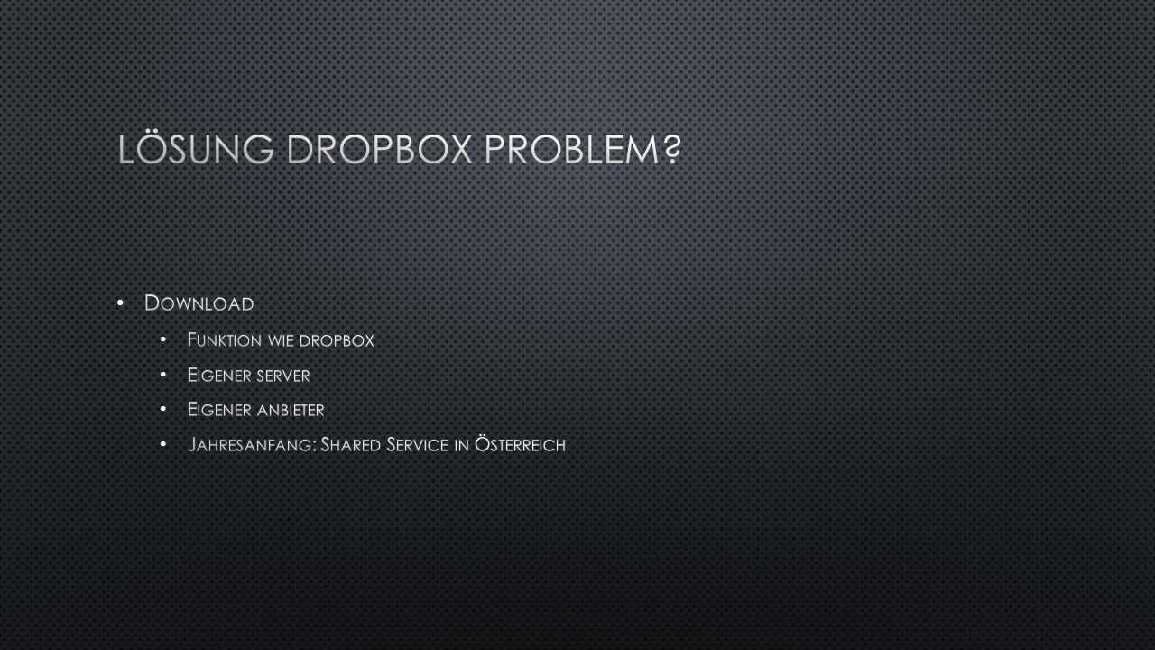 Lösung Dropbox Problem